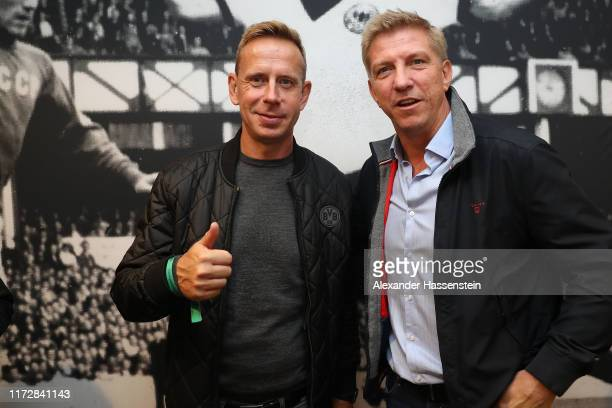 Jörg Heinrich attends with Marko Rehmer the Club of former German national players annual meeting around the UEFA Euro 2020 qualifier match between...