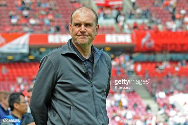 Jörg Schmadtke of Colonge looks on during the Bundesliga Match between 1FC Koeln and1 FSV Mainz 05 at RheinEnergieStadion on May 20 2017 in Colonge...
