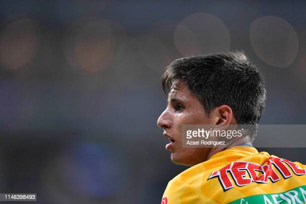 Jürgen Damm, #25 of Tigres, looks on during the final second leg match between Monterrey and Tigres UANL as part of the CONCACAF Champions League...