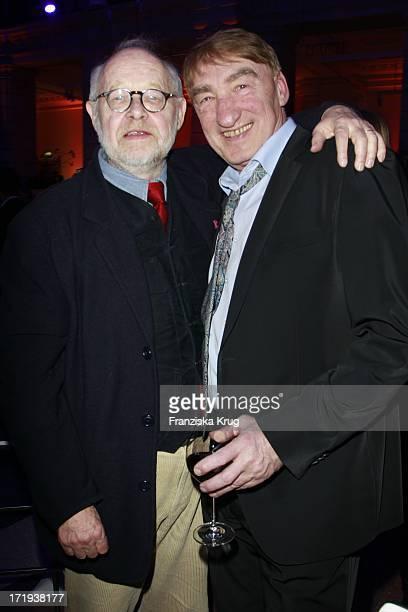 Jürgen Flimm Und Gottfried John Bei Der Ard Blue Hour Opening Party Im Museum Für Kommunikation In Berlin