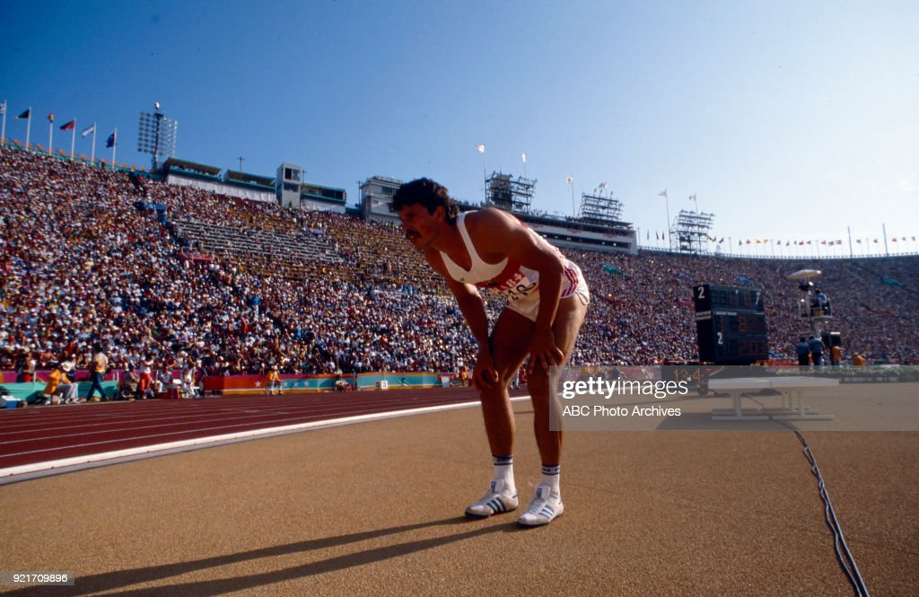 Men's Decathlon High Jump Competition At The 1984 Summer Olympics : Foto di attualità