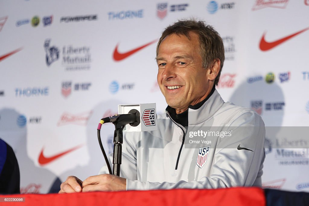 United States Press Conference - 2018 FIFA World Cup Russia Qualifier : ニュース写真