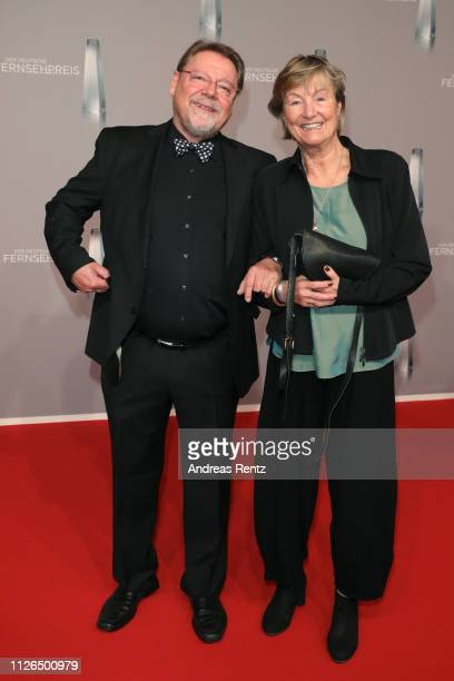 Jürgen von der Lippe and Anne Dohrenkamp attend the German Television Award at Rheinterrasse on January 31 2019 in Duesseldorf Germany