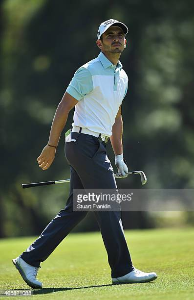Jérôme Lando Casanova of France plays a shot during practice prior to the start of the Tshwane Open at Pretoria Country Club on March 11 2015 in...