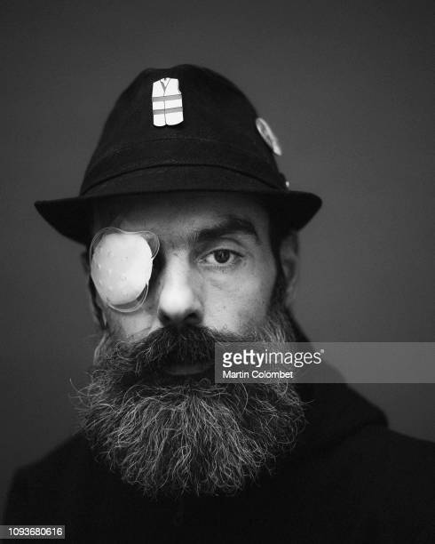 Jérôme Rodrigues one of the leaders of the Gilets Jaunes or 'Yellow Vest' movement poses for a portrait a week after loosing sight in his right eye...