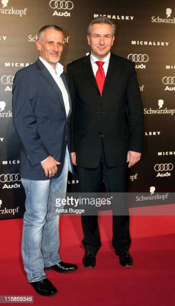 Jörn Kubicki and Mayor Klaus Wowereit during Michalsky Fashion Show at Rotes Rathaus in Berlin - Arrivals and Show - January 25, 2007 at Rotes...