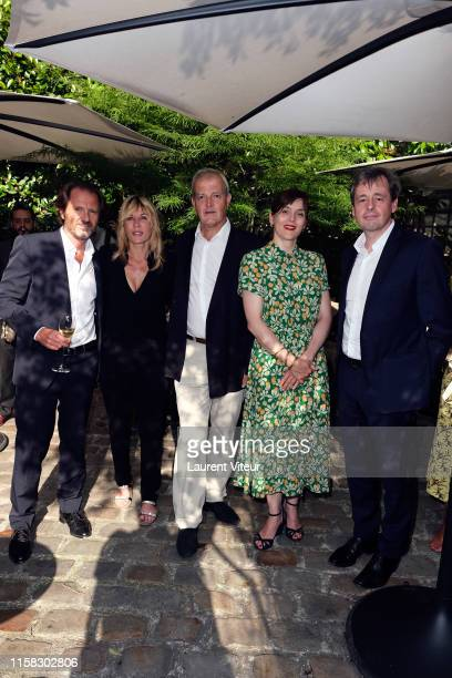 Jérome Chevalier,Mathilde Seigner, Regis Camus, Valerie Donzelli and Damien Lafaurie attend the Millesime Champagne Rose 2008 By Maison Piper...
