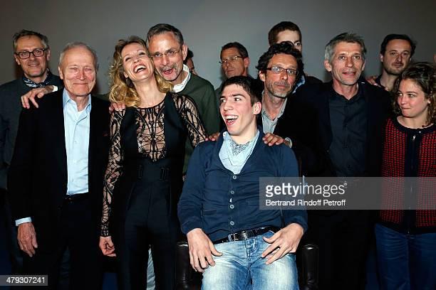 Jérome Seydoux Alexandra Lamy Fabien Heraud Nils Tavernier and Jacques Gamblin attend the 'De Toutes Nos Forces' Paris premiere at Gaumont Capucines...