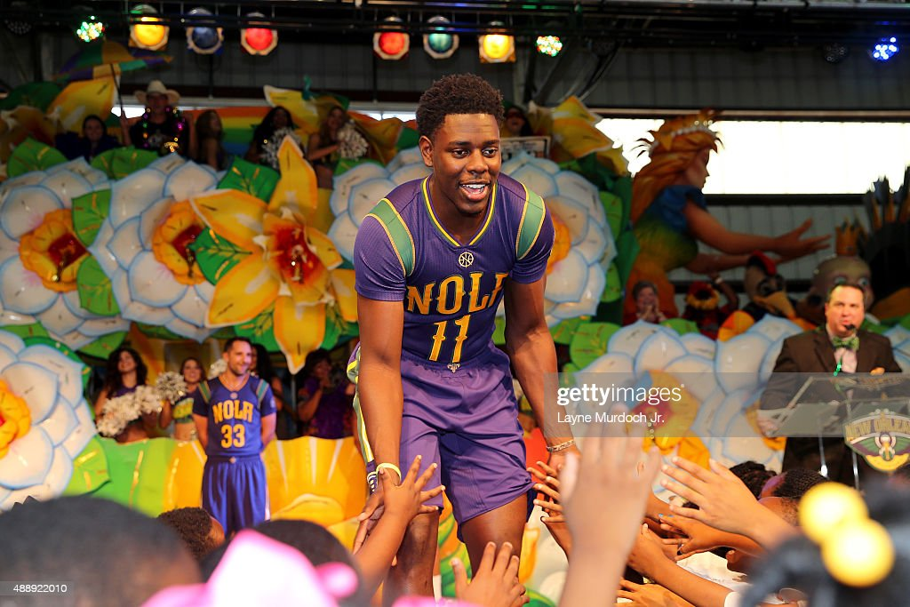 Jrue Holiday Of The New Orleans Pelicans Unveils The Mardi