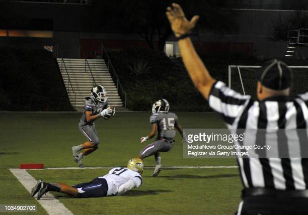JSerra scores in the 2nd qtr at Orange Coast College in Costa Mesa CA on Friday October 17 2014 Trinity League football matchup features St John...