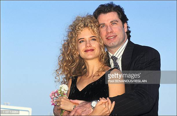 Travolta and Kelly Preston at Deaville film festival in Deauville France on September 08 1991