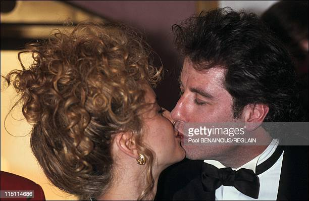 Travolta and Kelly Preston at Deaville film festival in Deauville France on September 08 1991