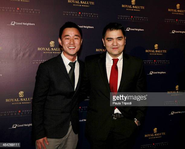 Ju Hong and Jose Antonio Vargas attends the 12th Annual Unforgettable Gala at Park Plaza on December 7 2013 in Los Angeles California
