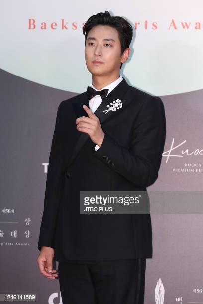 Ju JiHoon attends the 56th Baeksang Arts Awards at Kintex on June 05 2020 in Goyang South Korea