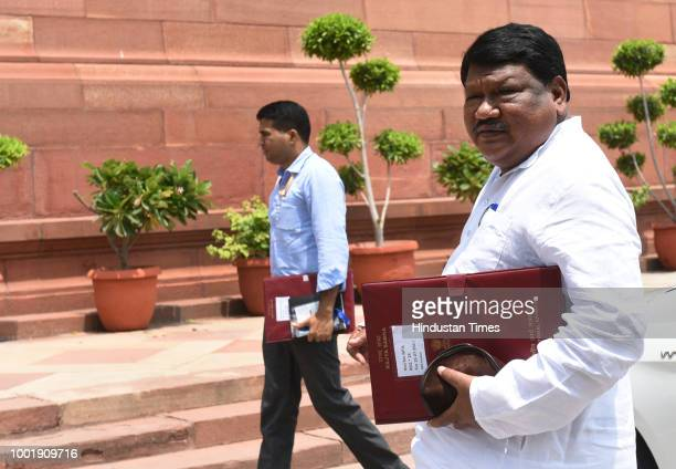 Jual Oram is seen on the second day of the Monsoon Session at the Parliament house on July 19 2018 in New Delhi India The Fugitive Economic Offenders...