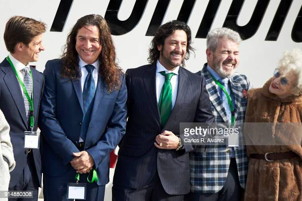 Jualian Lopez 'El Juli' Tomatito Rafael Amargo Lorenzo Caprile and actress Magui Mira attends the Gold Medals of Merit in Fine Arts 2016 ceremony at...