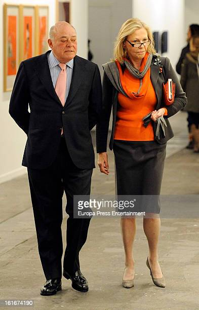 Juan Abello and Ana Gamazo attend International Contemporary Art Fair ARCO 2013 on February 13 2013 in Madrid Spain