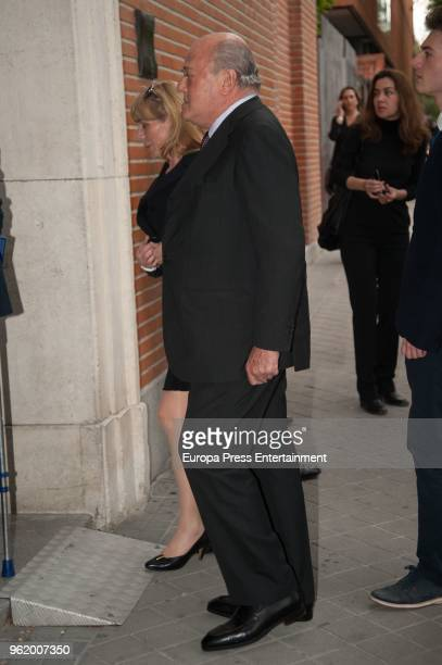 Juan Abello attends funeral chapel for Alfonso Moreno De Borbon cousin of King Felipe VI who died at 52 years old on May 23 2018 in Madrid Spain