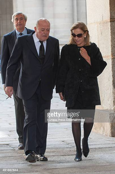 Juan Abello attends the funeral chapel for Carlos de Borbon Dos Sicilias second cousin of King Juan Carlos and Duke of Calabria at el Escorial on...