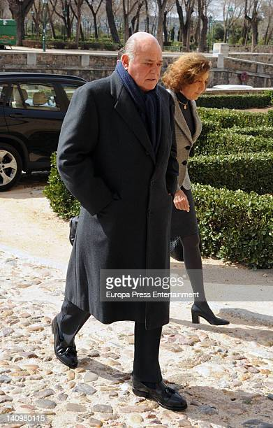 Juan Abello attends the funeral for countess Ana Medina Fernandez de Cordoba on March 8 2012 in Toledo Spain