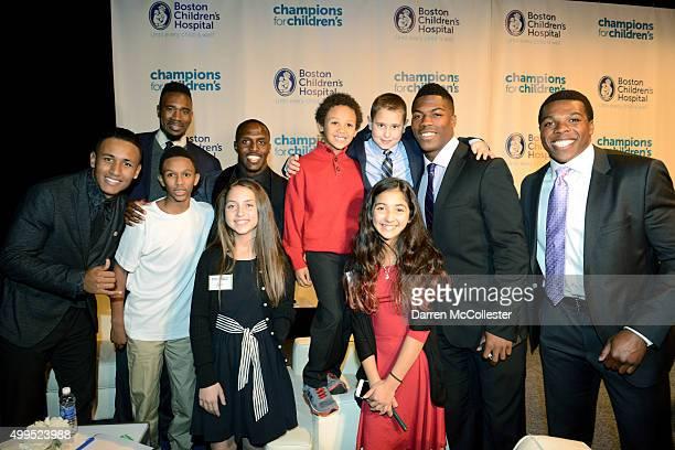 Juan Agudelo Leon Powe Devin McCourty Brandon King and Jordan Richards and Boston Children's Hospital All Stars attend Champions For Children's...