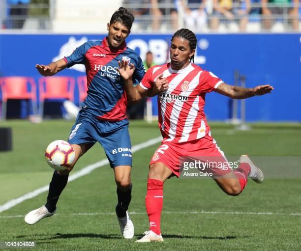 Juan Aguilera of SD Huesca during the La Liga match between SD Huesca and FC Girona at El Alcoraz on September 30 2018 in Huesca Spain