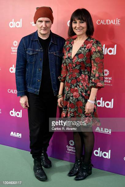 Juan Aguirre and Eva Amaral 'Amaral' attend 24th Cadena Dial awards press conference at Cadena Dial on February 07, 2020 in Madrid, Spain.