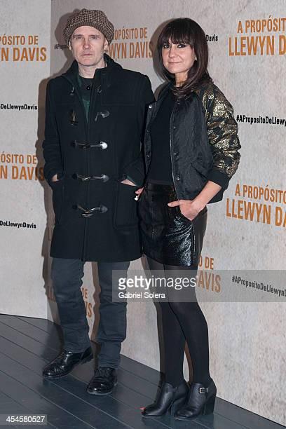 Juan Aguirre and Eva Amaral attend 'A Proposito De Llewyn Davis' Madrid premiere photocall at Matadero Madrid cineteca on December 9 2013 in Madrid...