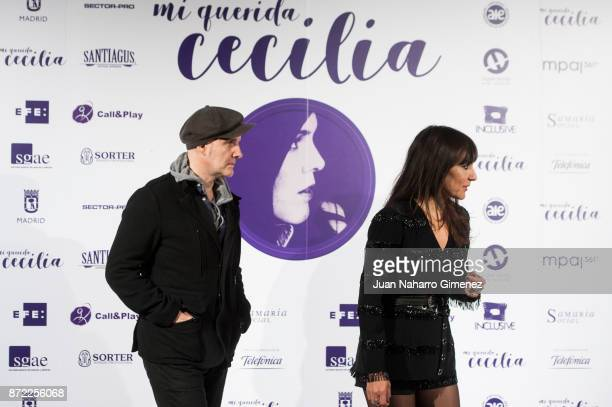 Juan Aguirre and Eva Amaral attend 'Mi Querida Cecilia' photocall at Palacio Municipal de Congresos on November 9 2017 in Madrid Spain