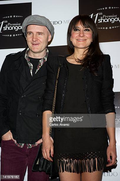 """Juan Aguirre and Eva Amaral attend """"Shangay"""" awards 2012 at Calderon Theater on March 27, 2012 in Madrid, Spain."""
