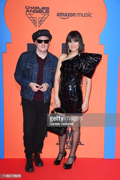 Juan Aguirre and Eva Amaral attend the MTV EMAs 2019 at FIBES Conference and Exhibition Centre on November 03, 2019 in Seville, Spain.