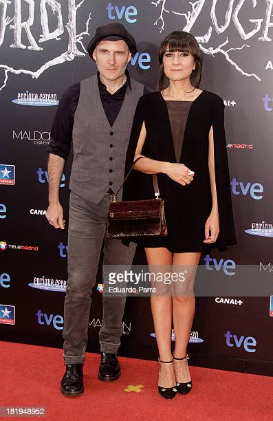 Juan Aguirre and Eva Amaral attends 'Las brujas de Zugarramurdi' premiere photocall at Kinepolis Cinema on September 26 2013 in Madrid Spain