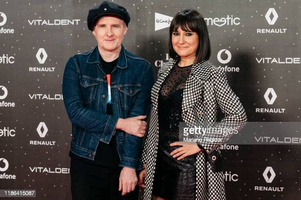 Juan Aguirre and Eva Amaral attends 'Los40 music awards 2019' photocall at Wizink Center on November 08 2019 in Madrid Spain