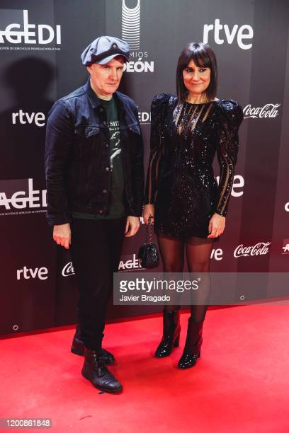 Juan Aguirre and Eva Amaral from the Spanish band Amaral attend the 1st Odeon Awards at Teatro Real on January 20 2020 in Madrid Spain