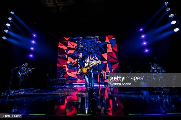 Juan Aguirre and Eva Amaral of Amaral performs on stage at Coliseum A Coruña, on November 2, 2019 in A Coruna, Spain.