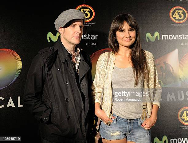 Juan Aguirre and Eva Amaral of the musical group Amaral attend the premiere of 'Los 40. El Musical' at the theater Victoria on September 9, 2010 in...