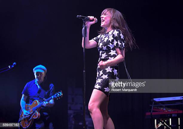 Juan Aguirre and Eva Amaral performs on stage on June 11 2016 in Barcelona Spain