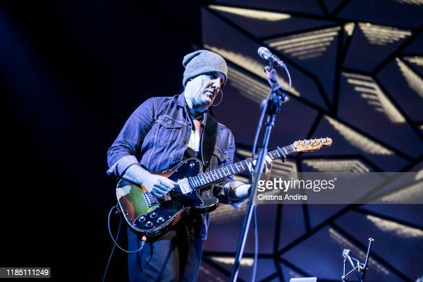Juan Aguirre of Amaral performs on stage at Coliseum A Coruña on November 2 2019 in A Coruna Spain