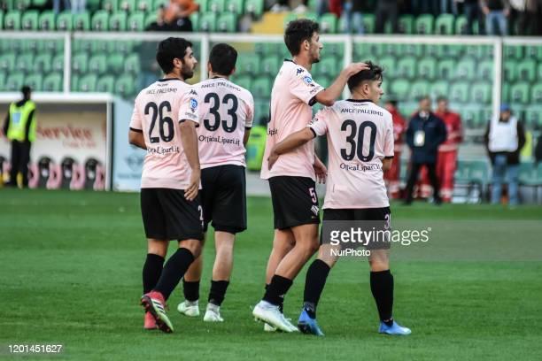 Juan Alberto Mauri, Christian Langella, Danilo Ambro and Andrea Silipo during the serie D match between SSD Palermo and ASD Biancavilla at Stadio...