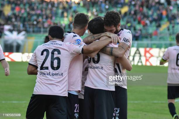 Juan Alberto Mauri Luca Ficarotta Andrea Silipo Masimiliano Doda and Christian Langella during the serie D match between SSD Palermo and Marsala at...