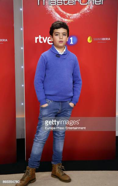 Juan Antonio attends the presentation of a new seson of 'Masterchef Junior' at TVE studios on December 14 2017 in Madrid Spain