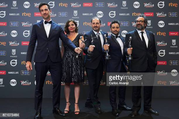 Juan Antonio Bayona attends the 'Platino Awards 2017' winners photocall at the La Caja Magica on July 22 2017 in Madrid Spain