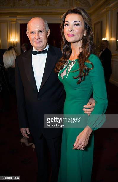 Juan Antonio Perez Simon and Silvia Gomez Guetara attends The Hispanic Society Museum and Library 2016 Gala at Metropolitan Club on October 6 2016 in...