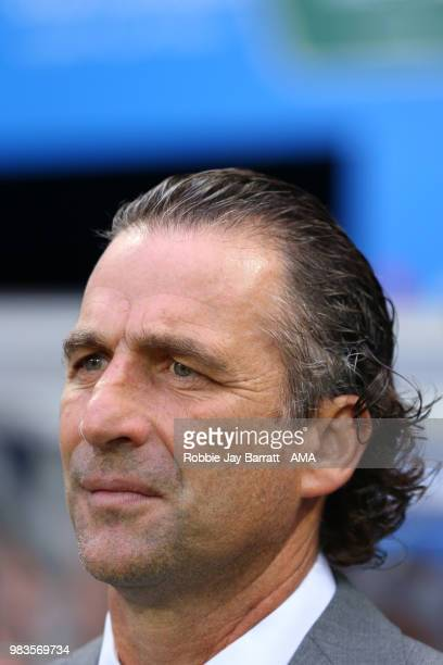 Juan Antonio Pizzi head coach / manager of Saudi Arabia looks on prior to the 2018 FIFA World Cup Russia group A match between Saudi Arabia and Egypt...