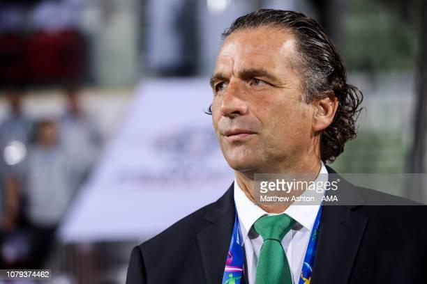 Juan Antonio Pizzi the head coach / manager of Saudi Arabia during the AFC Asian Cup Group E match between Saudi Arabia and North Korea at Rashid...