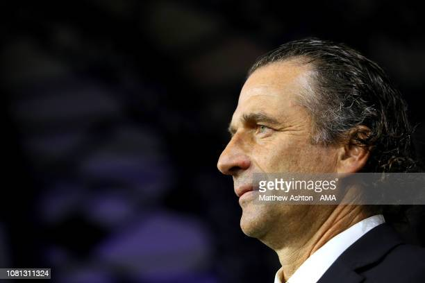 Juan Antonio Pizzi the head coach / manager of Saudi Arabia looks on prior to the AFC Asian Cup Group E match between Lebanon and Saudi Arabia at Al...