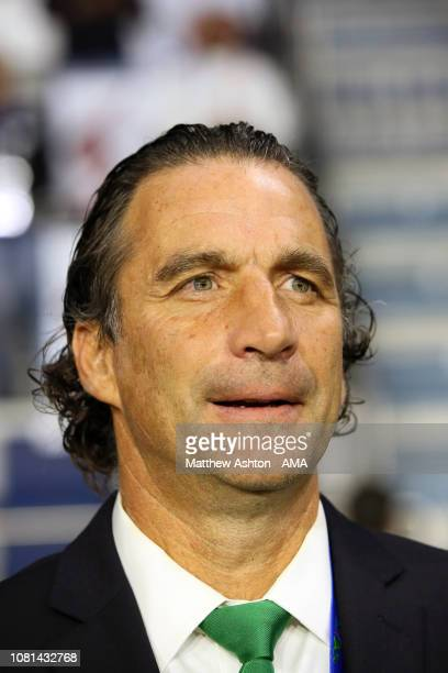 Juan Antonio Pizzi the head coach / manager of Saudi Arabia looks on during the AFC Asian Cup Group E match between Lebanon and Saudi Arabia at Al...
