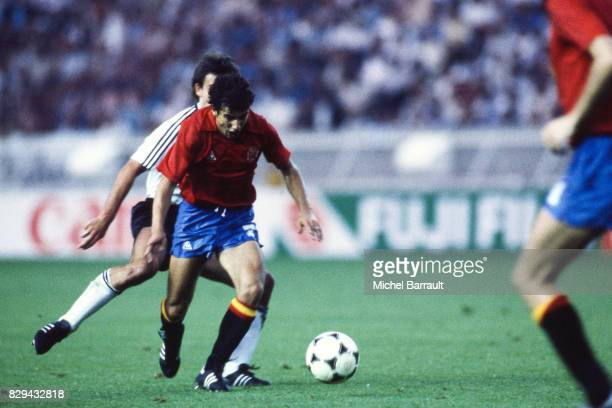 Juan Antonio Senor of Spain during the European Championship match between Spain and West Germany at Parc des Princes Paris France on 20th June 1984