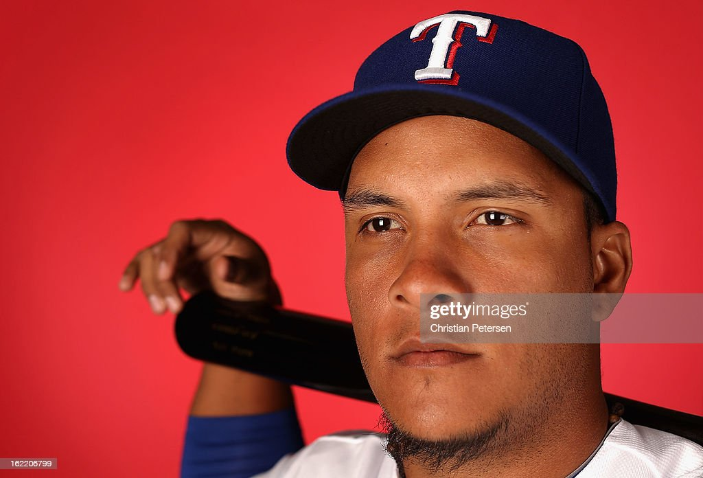 Juan Apodaca #67 of the Texas Rangers poses for a portrait during spring training photo day at Surprise Stadium on February 20, 2013 in Surprise, Arizona.