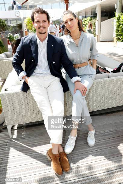 Juan Arbelaez and Laury Thilleman attend the 2019 French Tennis Open Day Seven at Roland Garros on June 01 2019 in Paris France